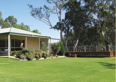hay golf club and deck