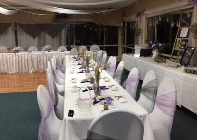 Country style wedding table setup