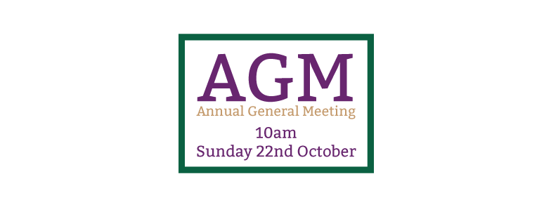 22nd October – AGM