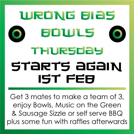 1st February – Wrong Bias Bowls Returns for 2018