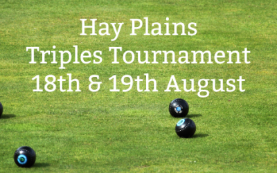 18th & 19th August – Hay Plains Triples Tournament