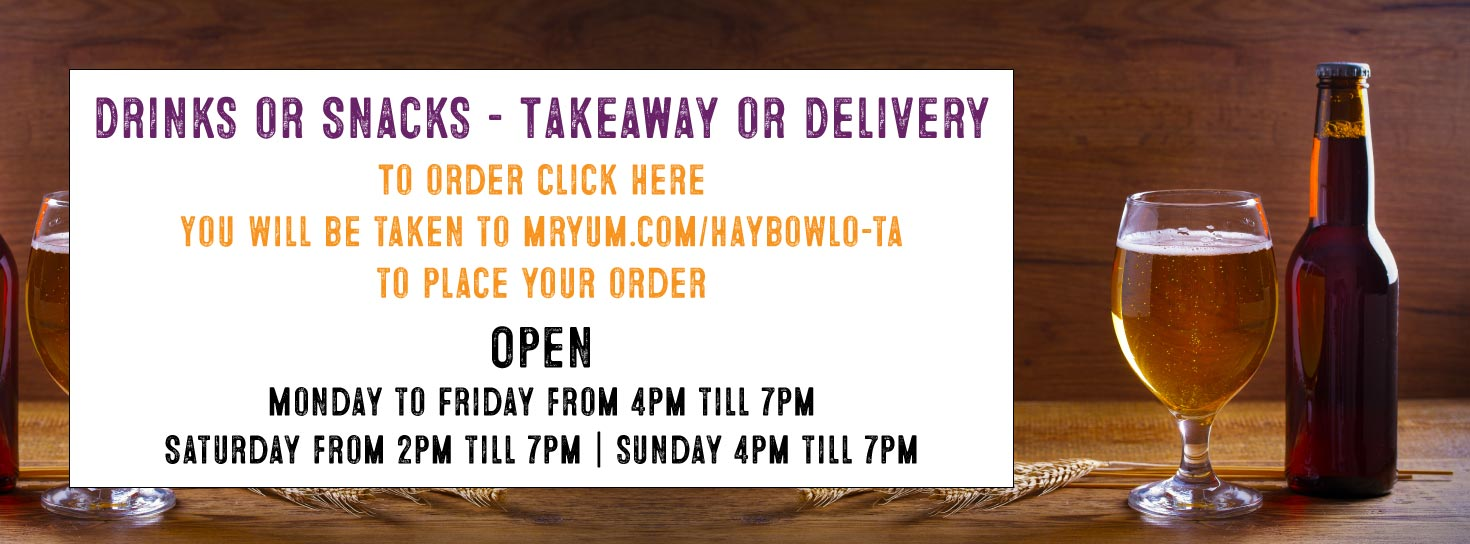 drinks available for takeaway or delivery