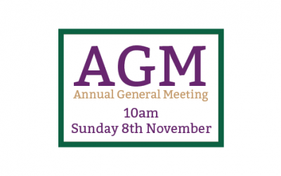 8th November 2020 – AGM